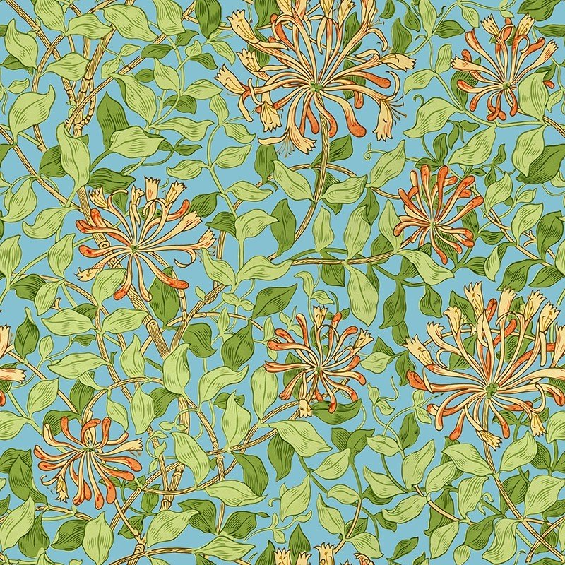 Wallpaper Honeysuckle by https://www.decormural.fr/