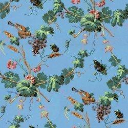 Papier peint Pampres et papillons